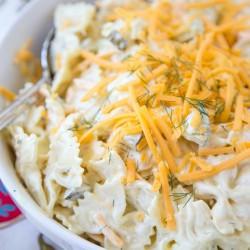 Cheddar & Dill Pasta Salad
