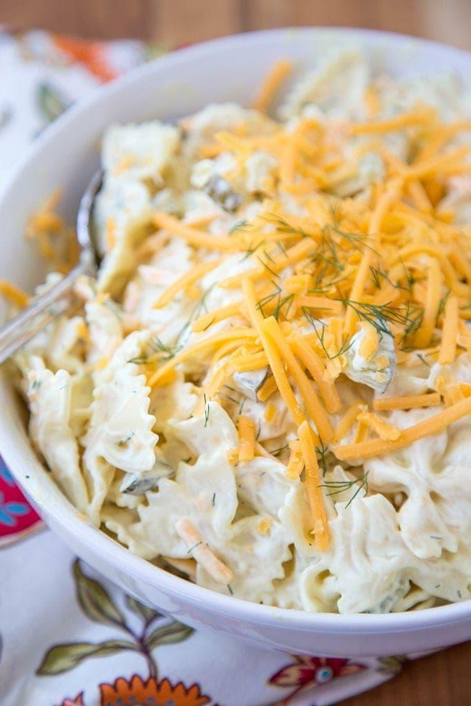 Cheddar & Dill Pasta Salad 6