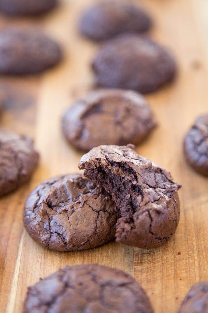 Dark Chocolate Brownie Cookies 8
