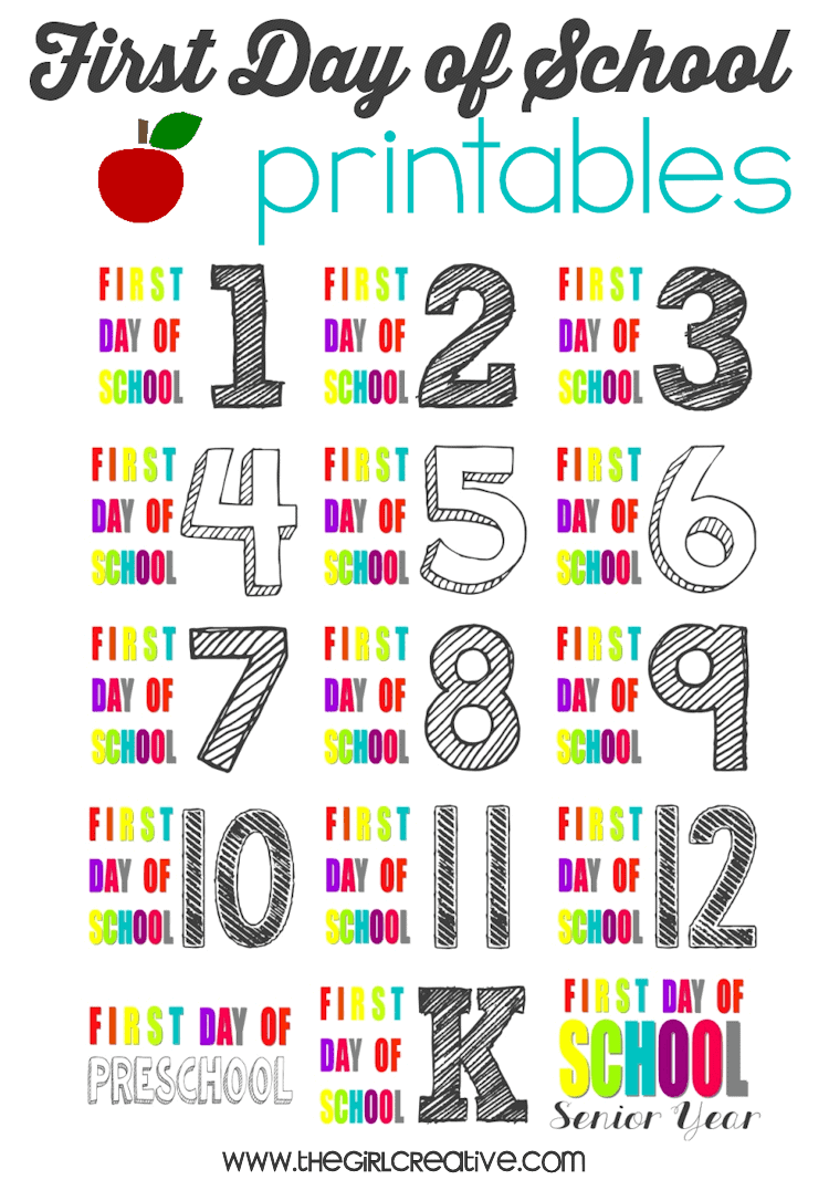 First-Day-of-School-Signs-the girl creative