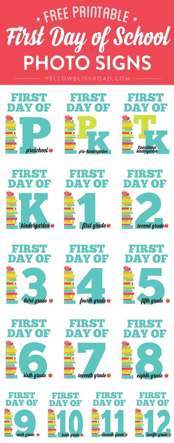 Free Printable Worksheets For First Day Of School : First day of school free chalkboard printables