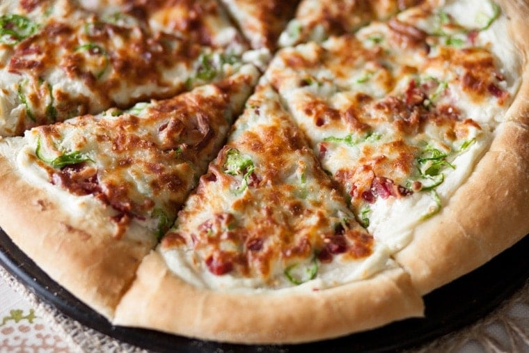 Jalapeno Popper Pizza. Jalapenos, bacon, and cream cheese. Everything you always wanted in a pizza.