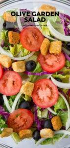 Easy Olive Garden Salad Copycat Yellowblissroad Com