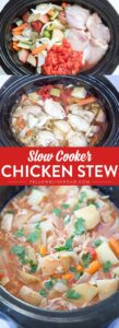Slow Cooker Chicken Stew - a rich and hearty crockpot meal that is the perfect comfort food for a cold night.