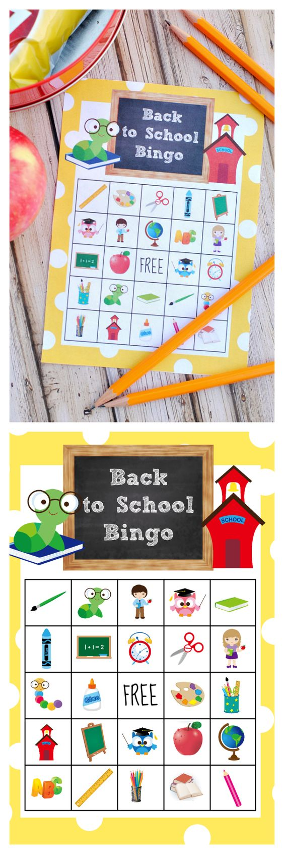 back to school bingo-crazy little projects