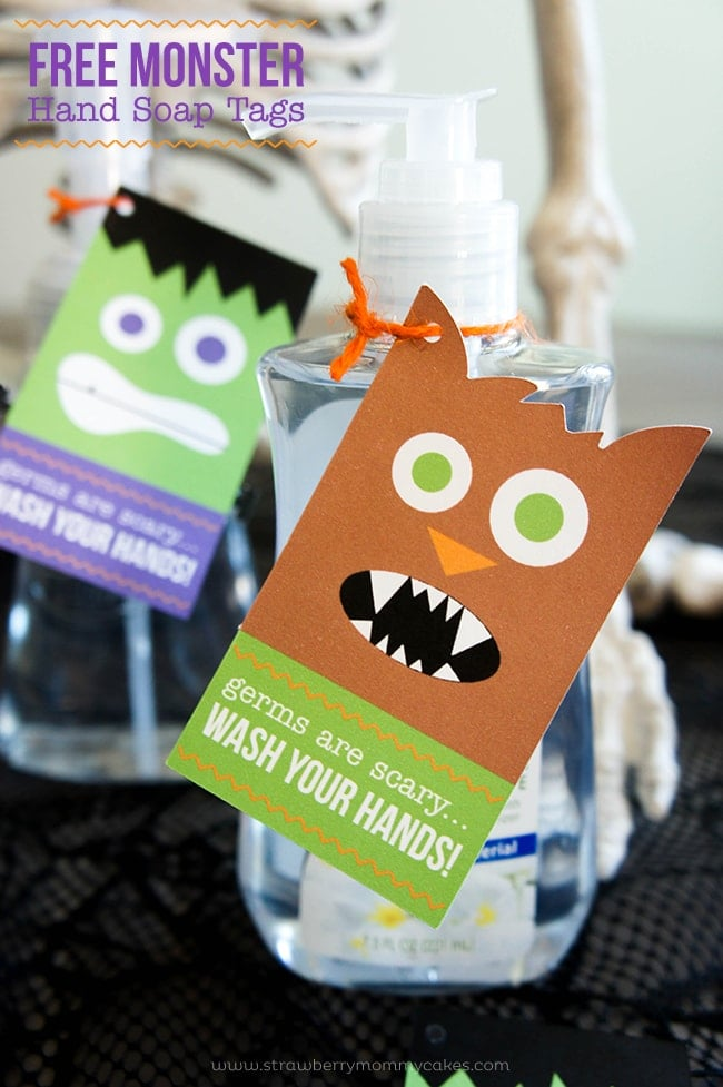 monster hand soap tags