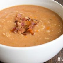 This Bacon and Bean Soup is sure to make it into your fall recipe arsenal. Easy to make and full of flavor, this recipe is always a crowd pleaser!