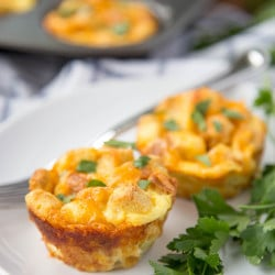 A plate of breakfast muffins
