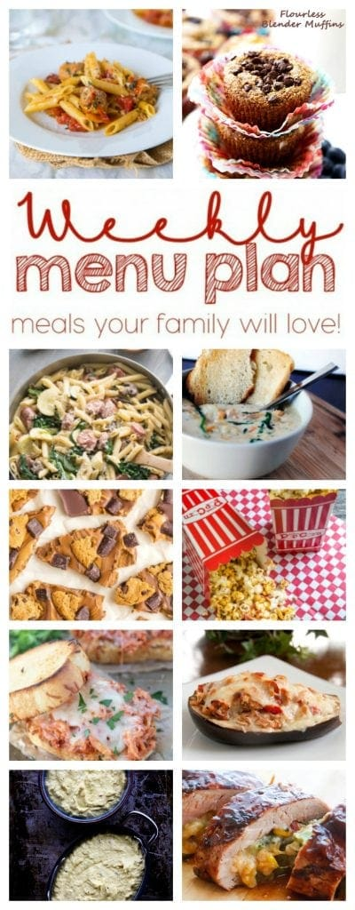 Weekly Meal Plan Week 32 – 10 great bloggers bringing you a full week of recipes including dinner, sides dishes, and desserts!