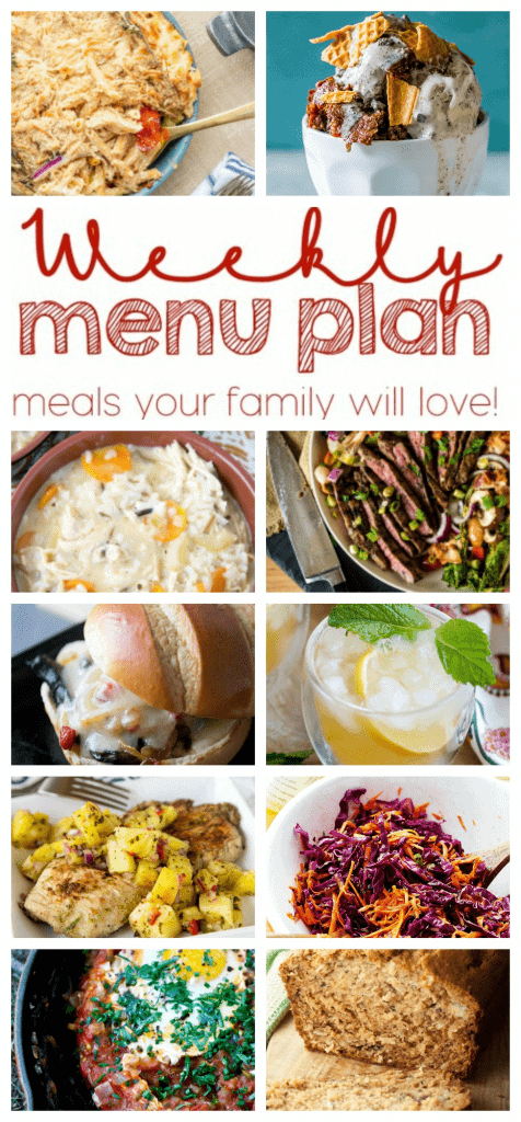 Weekly Meal Plan Week 31 – 10 great bloggers bringing you a full week of recipes including dinner, sides dishes, and desserts!