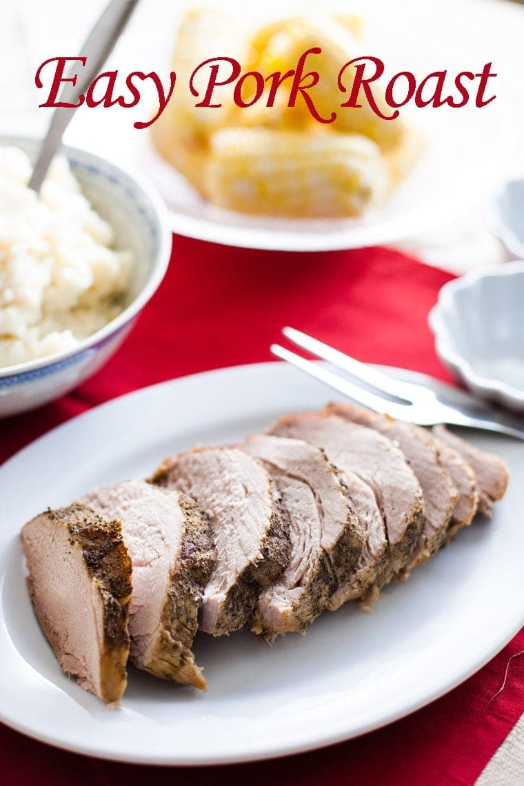 This Easy Pork Roast can be made with your eyes shut! Just throw it in the crock pot and you have an amazing dinner that is perfect any time of the year!