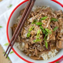 Slow Cooker Garlic & Brown Sugar Teriyaki Pork