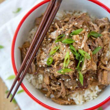 A bowl of Pork Teriyaki and rice