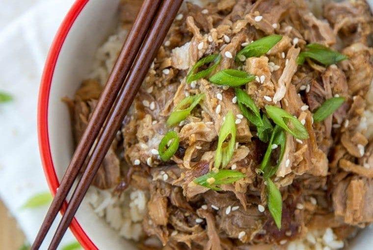 Slow Cooker Garlic & Brown Sugar Teriyaki Pork