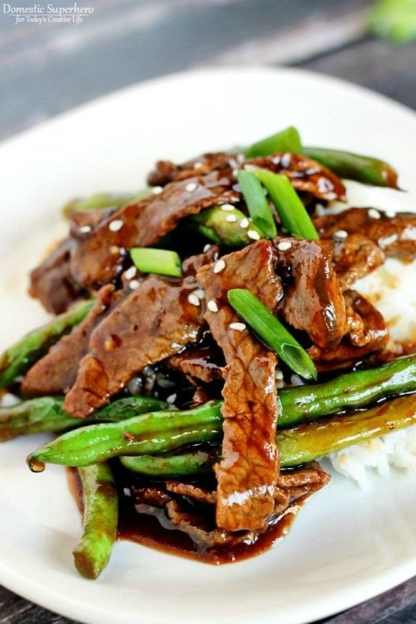 Chinese Beef & Green Beans - Part of 36 meals to make your weeknight dinners quick and easy!