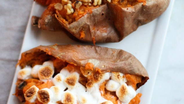 These Twice Baked Sweet Potatoes are full of fall flavors and make for a great side dish!