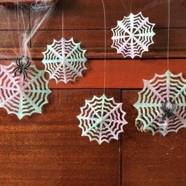 Coffee Filter Spiderweb Garland