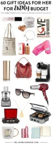 60 Fabulous Gift Ideas for Women - From super budget friendly to ultra lavish! Great for Christmas, birthdays or any time of the year!