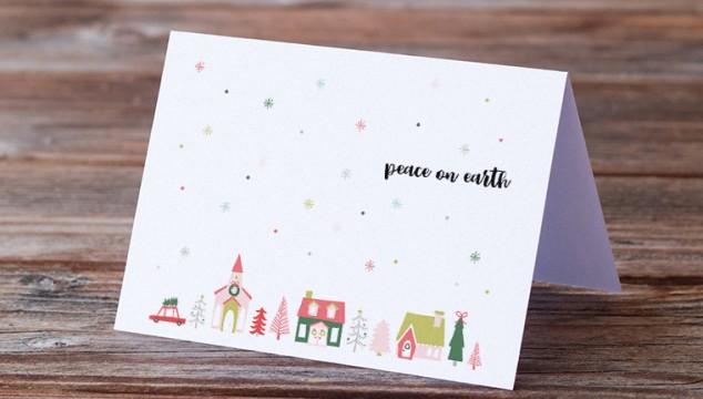 Free Printable Christmas Card & Sign