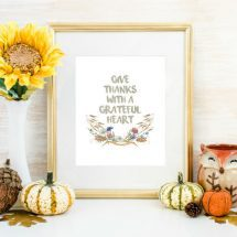 Give Thanks with a Grateful Heart Printable
