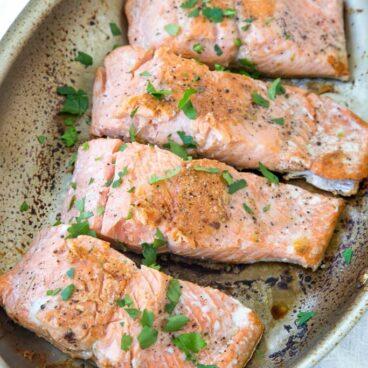 A pan of Salmon