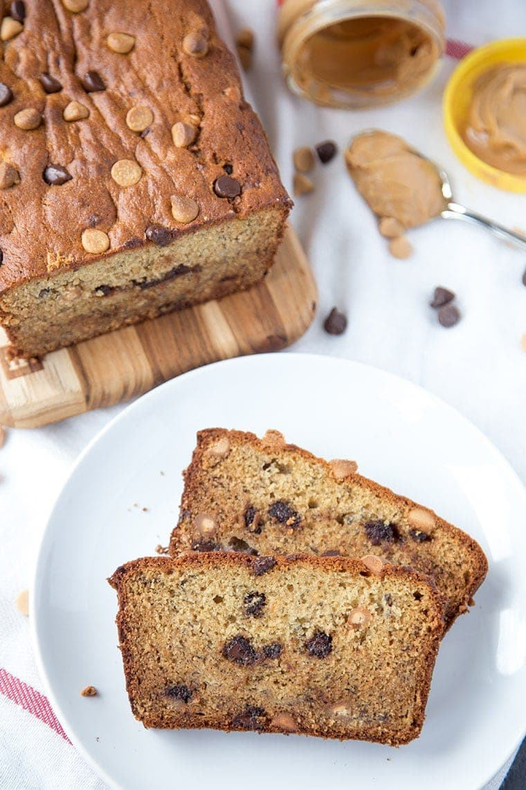 Peanut Butter Banana Bread - a protein packed and delicious snack! This take on classic banana bread will soon become your favorite quick bread recipe!