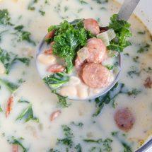 White Bean, Kale & Sausage Soup