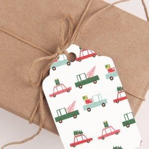 Free Printable Whimsical Pastels Christmas Gift Tags