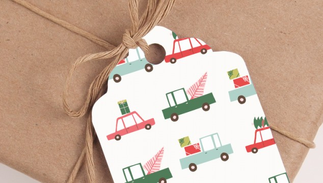 Free Printable Whimsical Pastels Christmas Gift Tags