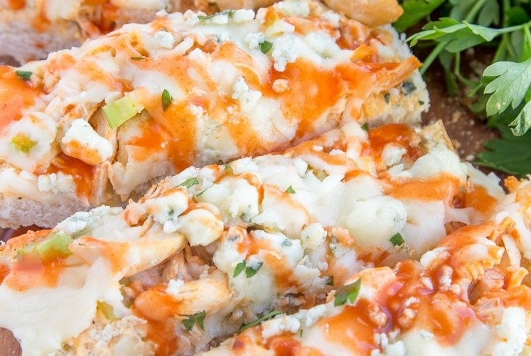 Buffalo Ranch Chicken French Bread Pizza