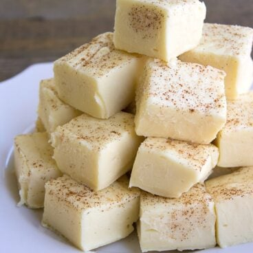 A plate of Buttered Rum Fudge