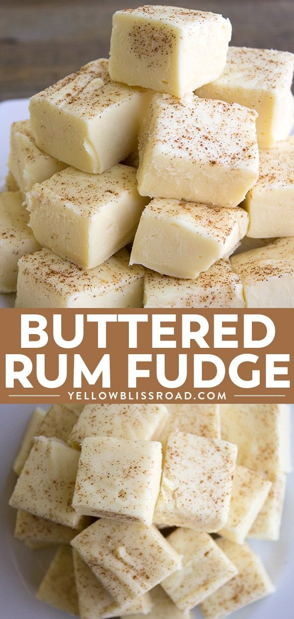 Easy Homemade Buttered Rum Fudge Recipe collage