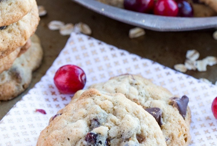 Cranberry Chocolate Chip Oatmeal Cookies