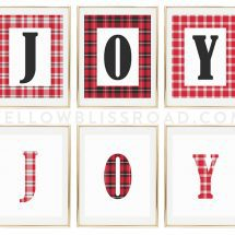 """JOY"" Christmas Printables"