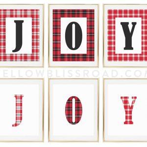 """""""JOY"""" Christmas Printables"""
