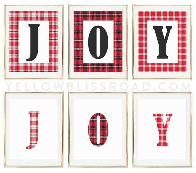 joy free printables for christmas free holiday decor