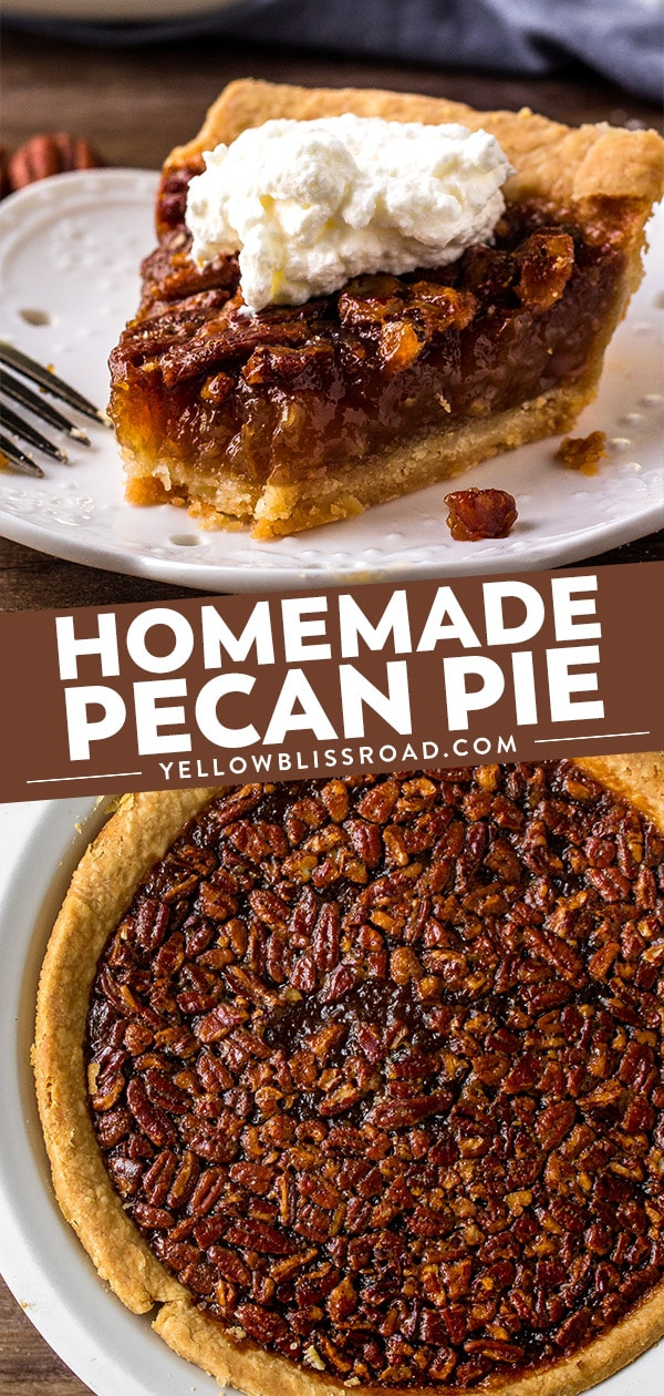 Southern Pecan Pie Recipe collage