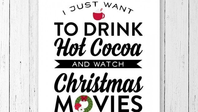 Free Christmas Printable: Hot Cocoa & Christmas Movies