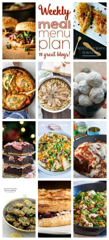 Weekly Meal Plan Week 43– 11 great bloggers bringing you a full week of recipes including dinner, sides dishes, and desserts!
