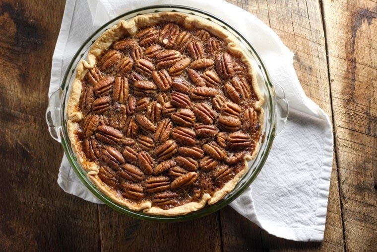 This Southern Pecan Pie is a classic recipe for Thanksgiving dessert!