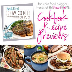 Picture of a slow cooker cookbook with dinner ideas