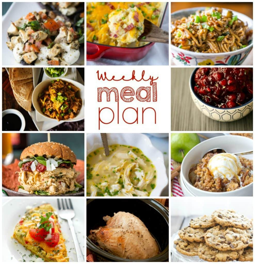 Weekly Meal Plan Week 41 – 11 great bloggers bringing you a full week of recipes including dinner, sides dishes, and desserts!