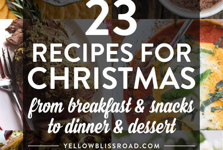 Christmas Day Meal Plan (from Breakfast to Dinner!) and a Giveaway!!