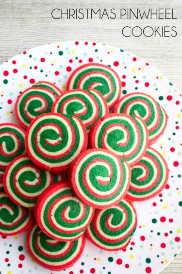 Christmas Cookie Pinwheels are a festive holiday treat that'll be the star of your Christmas cookie plate!