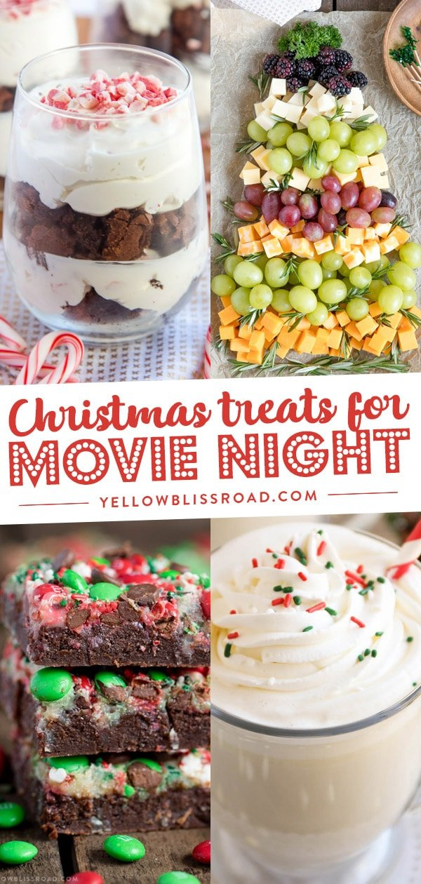 treats and snacks for Christmas movie night