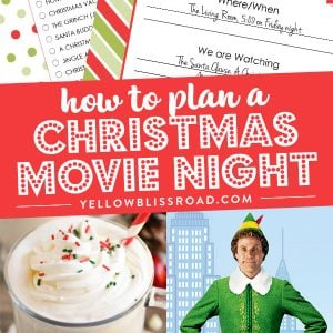 How to Plan a Christmas Movie Night (with Free Printables)