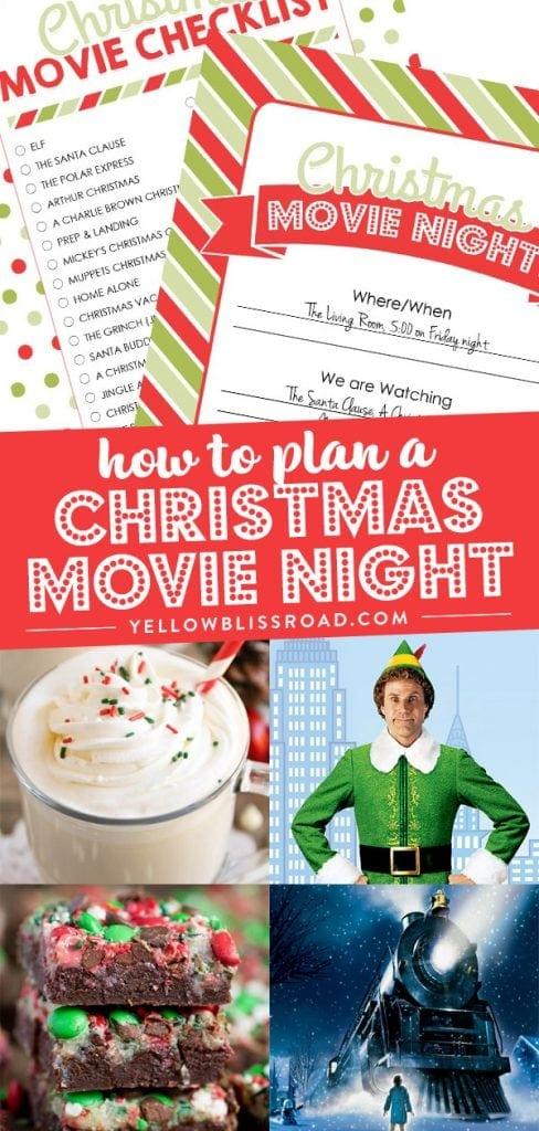 Christmas Movie Night with Free Printables (Best Christmas ...