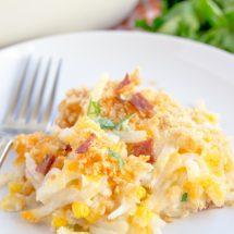 Creamy Potato, Corn and Bacon Casserole