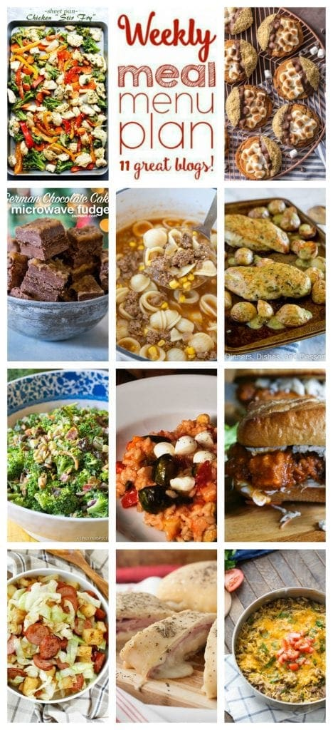 Weekly Meal Plan Week 48 – 11 great bloggers bringing you a full week of recipes including dinner, sides dishes, and desserts!