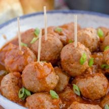 Spicy Pineapple Barbecue Turkey Meatballs